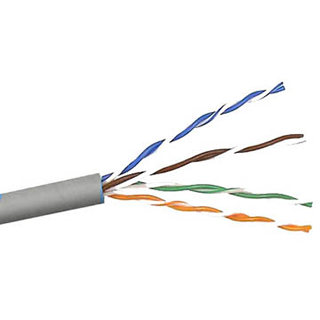 CABLE CAT5E FT4 STR GRY 1000FT UTP 4P/24AWG 350MHZ CM