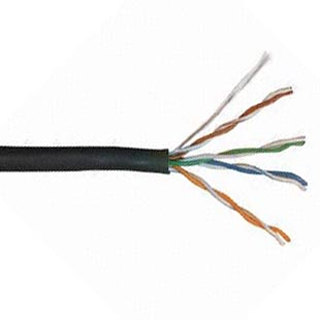 CABLE CAT6 SOL BLK WP 1000FT UTP 4P/23AWG 550MHZ DIRECT BURIA