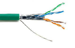 CABLE CAT5E FT4 STR SHLD GREEN 1000FT