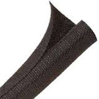 SELF WRAP FLEX 1IN BLK 10FT POLY BRAIDED F6 WOVEN SLEEVING