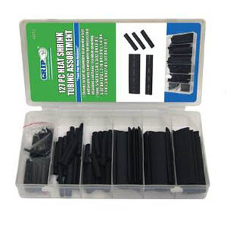 TUBING HST ASSORTED SIZES BLACK 127PCS/PACK