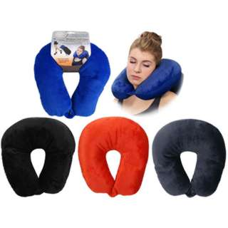 TRAVEL PILLOW ASSORTED COLORS 