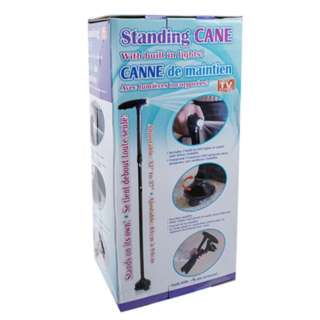 CANE STANDING FOLDABLE W/LIGHT ADJUST 32-37IN REQUIRE 3AAA