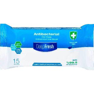 ANTIBACTERIAL WIPES ALL PURPOSE CLEANSING 15PCS/PACK