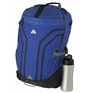 TRAVEL BACKPACK 12X9X19.25IN 24L NAVY W/WATER BOTTLE