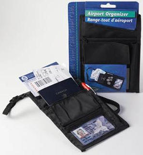 AIRPORT ORGANIZER FOR TRAVEL 