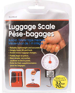 LUGGAGE SCALE ANALOG MAX WEIGHT CAPACITY:32KG(70LBS)