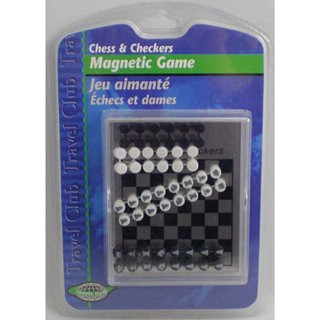TRAVEL MAGNETIC GAME-CHESS & CHECKERS