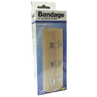 BANDAGE ELASTIC 6IN X 5FT UNSTRETCHED