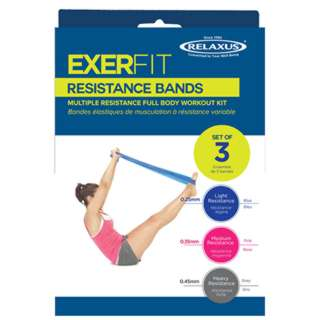 EXERFIT RESISTANCE BAND SET 3PCS/SET