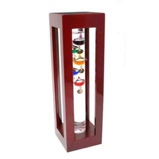 GALILEO THERMOMETER-11IN INDOOR WITH SHINY FLOATING BALLS