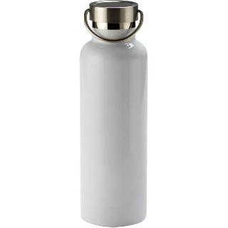 WATER BOTTLE 750ML STAINLESS STEEL DOUBLE WALL WHITE