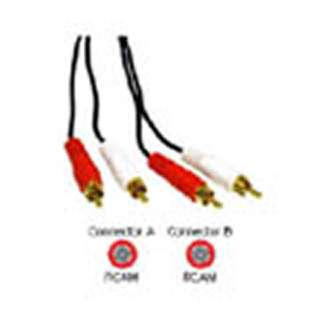 RCA CABLE ASSY M/MX2 12FT GOLD CA1001-12